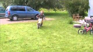 Brody's First Day On His Suzuki RM 65