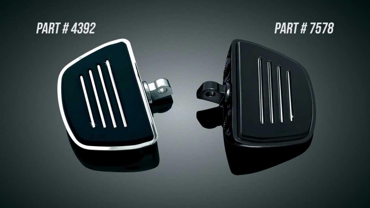 Kuryakyn Chrome Mini Floor Boards For Harley Davidson Passenger or Driver 4392