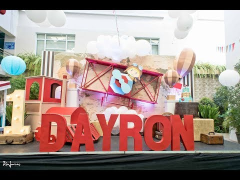 Dayron's Vintage Aviation 1st Birthday Party At Bel Air Clubhouse