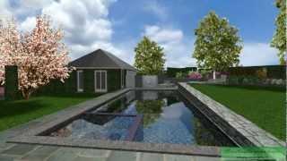 CAD 3D-Suburban Garden-Day