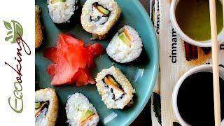 Очень вкусные и простые Суши Роллы (вегетарианские) / 2 способа приготовления