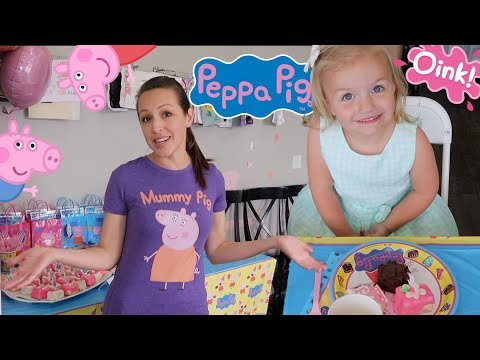 🐷-peppa-pig-themed-birthday-party-for-three-year-old-girl-🎉
