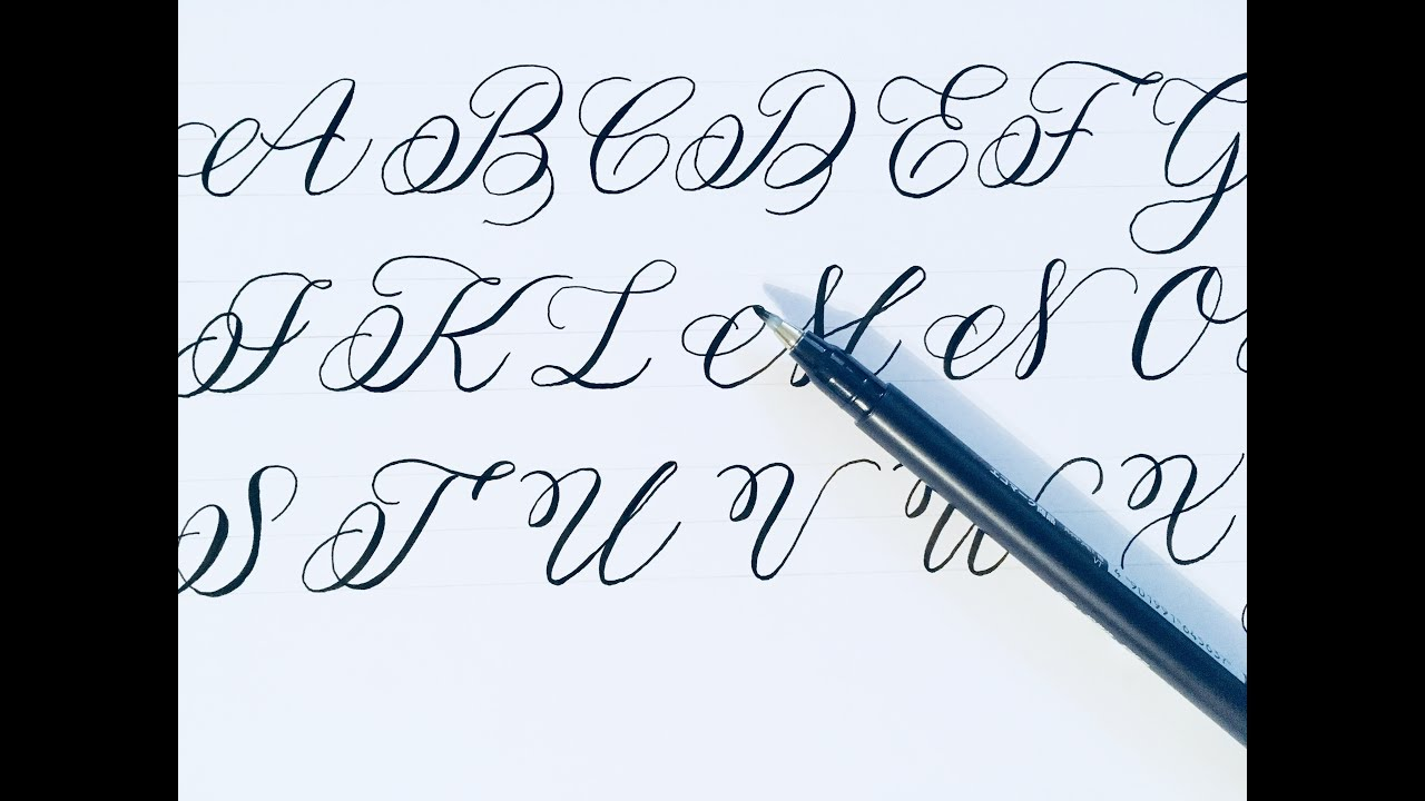 how to write modern calligraphy