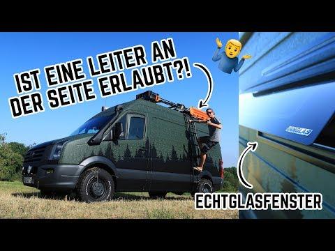 Seitenleiter und Echtglasfenster für Dometic Seitz S4 am Crafter Campervan verbauen! // FREUNDSHIP