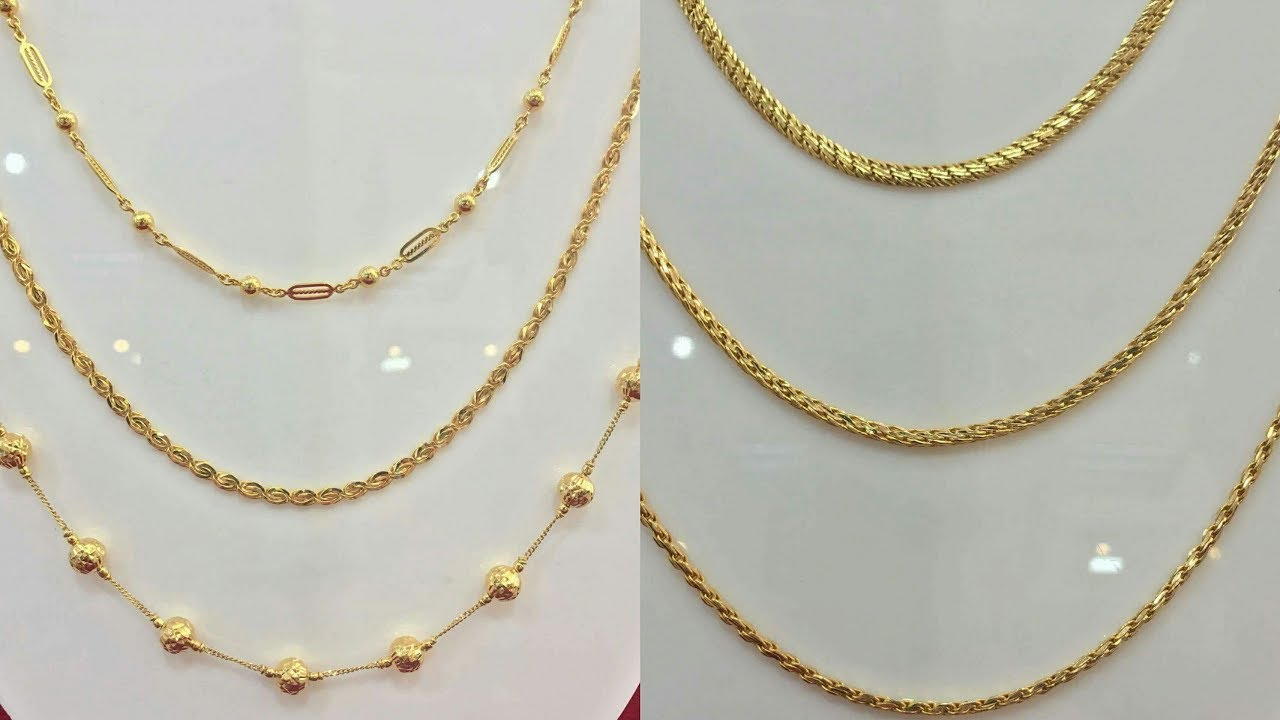 Light Weight Gold Chain Necklaces Designs - YouTube