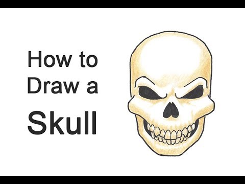 How to Draw a Scary Skull for Halloween!
