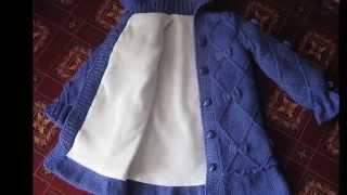 Вязаное пальто для самой маленькой девочки