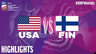 USA vs. Finland - Game Highlights - #IIHFWorlds 2019