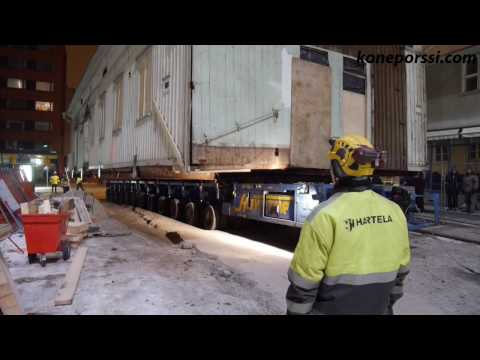 Finnish company Havator Oy moving an old house in Turku Finland.