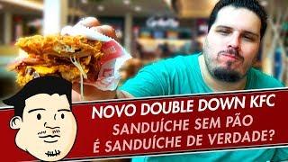 PROVANDO O LANCHE SEM PÃO DO KFC