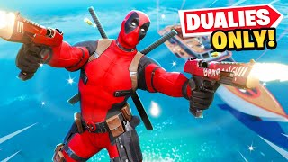 Deadpool MYTHIC PISTOLS *ONLY* Challenge in Fortnite!