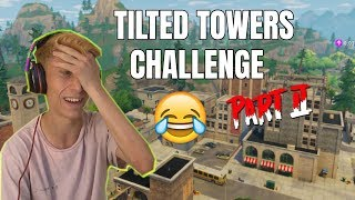 JEG LANDER I TILTED TOWERS CHALLENGE PART 2!! 😱🔥 FORTNITE (BATTLE ROYALE)