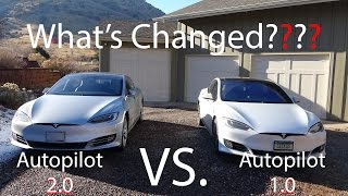 Tesla Model S Autopilot 1.0 VS. 2.0! What