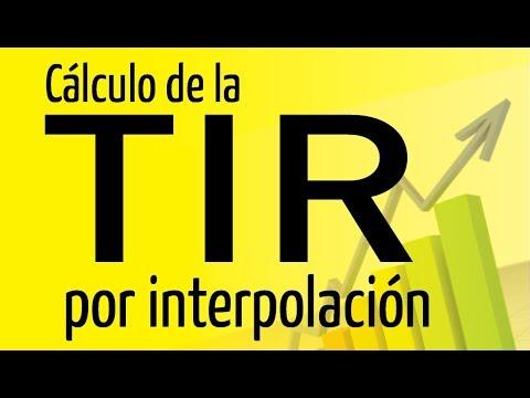 Calculo de la TIR por interpolacion