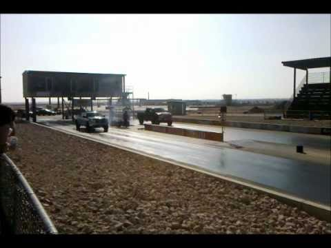 6.4 powerstroke vs shelby gt 500 1/8 mile race desert thunder raceway odessa tx