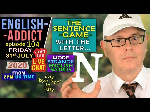 blah blah blah... - English Addict - 104  / Friday 31st July 2020 / Blah blah blah... LIVE