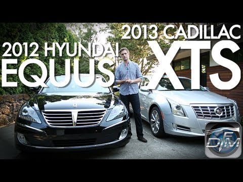 DownForce Motoring 2013 Cadillac XTS 2012 Hyundia Equus Comparison