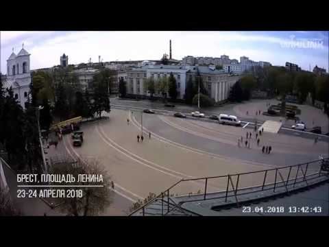 Лесоповал на площади Ленина в Бресте. 23-24.04.2018