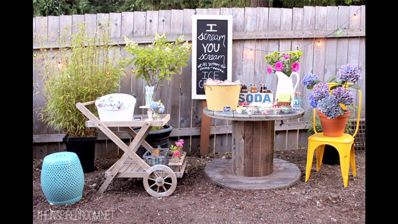 Backyard party decorating ideas