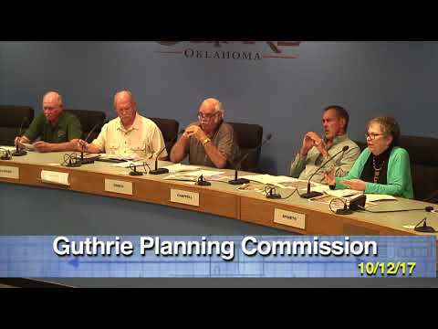 PLANNING COMMISSION OCTOBER 12th, 2017