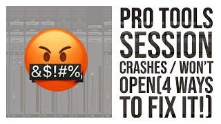 Pro Tools Crashes /Won't Open(4 ways to fix it!)