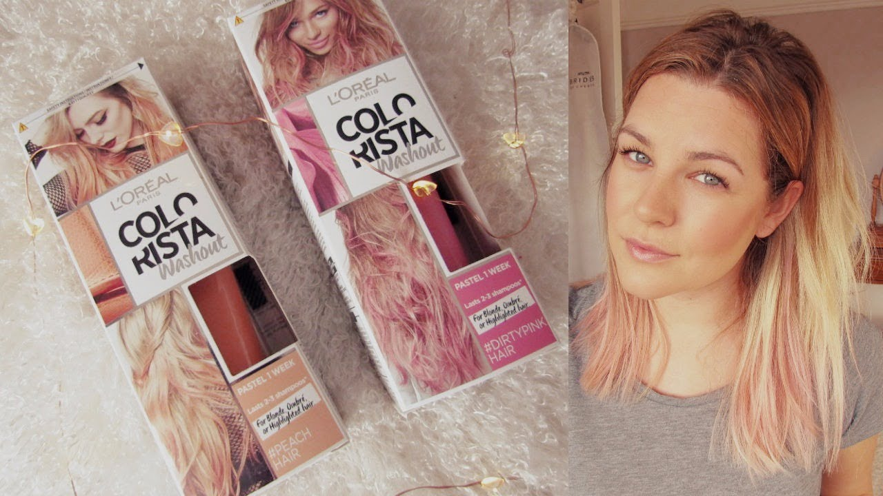 Dying My Hair Dirty Pink Peach L Oreal Colorista