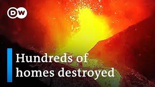 La Palma volcano: Firefighters retreat as eruption intensifies   DW News