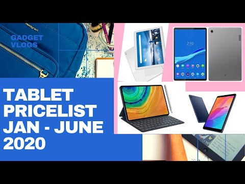 Tablet Price-list 2020 Released From January To June 2020