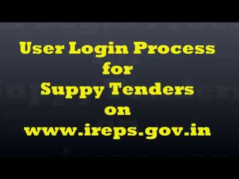 How to Login into IREPS Application as a Vendor/Bidder for Supply Tenders?