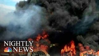 Two Killed As Business Jet Crashes, Burns Near NJ Airport | NBC Nightly News