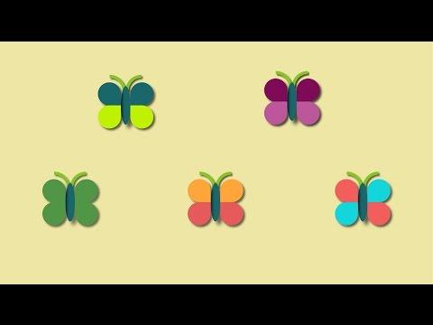 5 little butterflies kids song