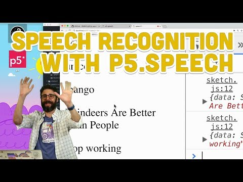 10.4: Speech Recognition with p5.Speech - Programming with Text
