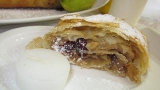 Рецепт - Яблочный штрудель
