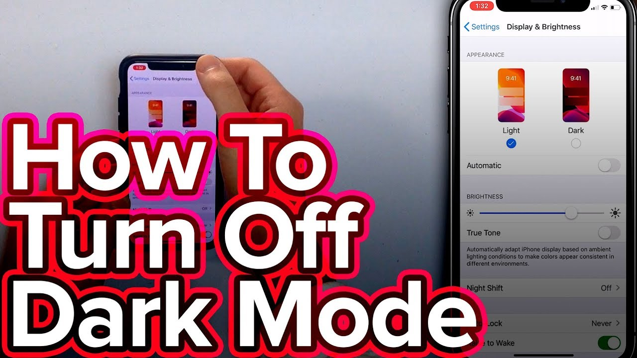 How To Turn Off Dark Mode On Iphone In Ios 13 Youtube