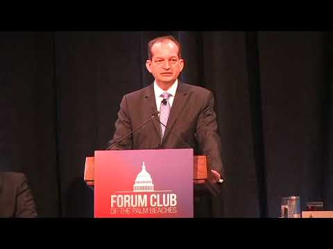 Forum Club 2.5.18 U.S. Secretary of Labor Alexander Acosta