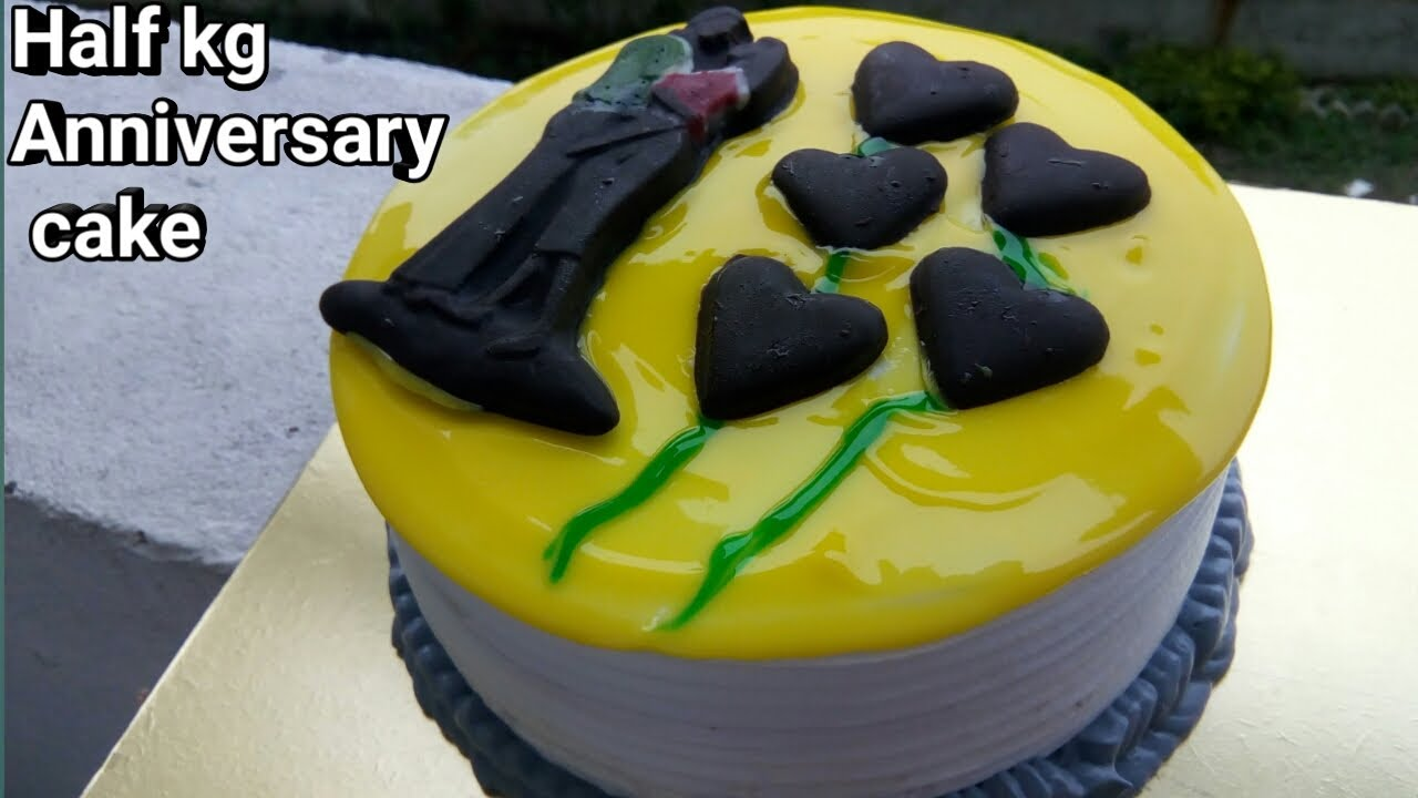 Order your half kg cake online from an authentic cake shop. 1 2 Kg Anniversary Cake Decoration Pineapple Cake Decoration À¤• À¤• À¤¡ À¤• À¤° À¤¶à¤¨ Youtube