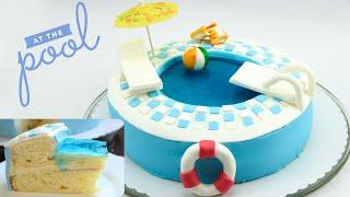 Swimming Pool-Torte / Pool-Torte / Pool Cake / Swimming Pool Cake selber machen