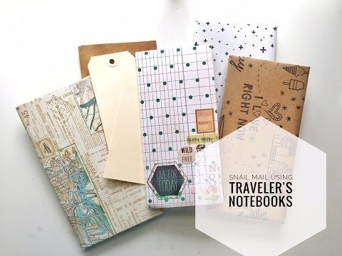 Snail Mail Using Traveler's Notebooks