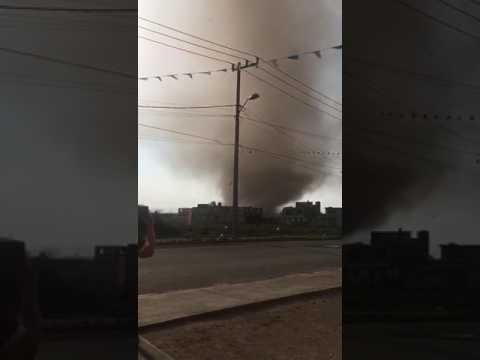 Tremendo Tornado en San Pablo Autopan