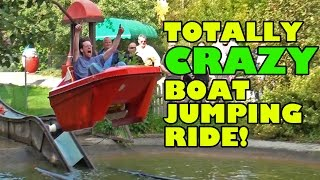 Totally CRAZY Boat Jumping Ride! Skyline Park Germany