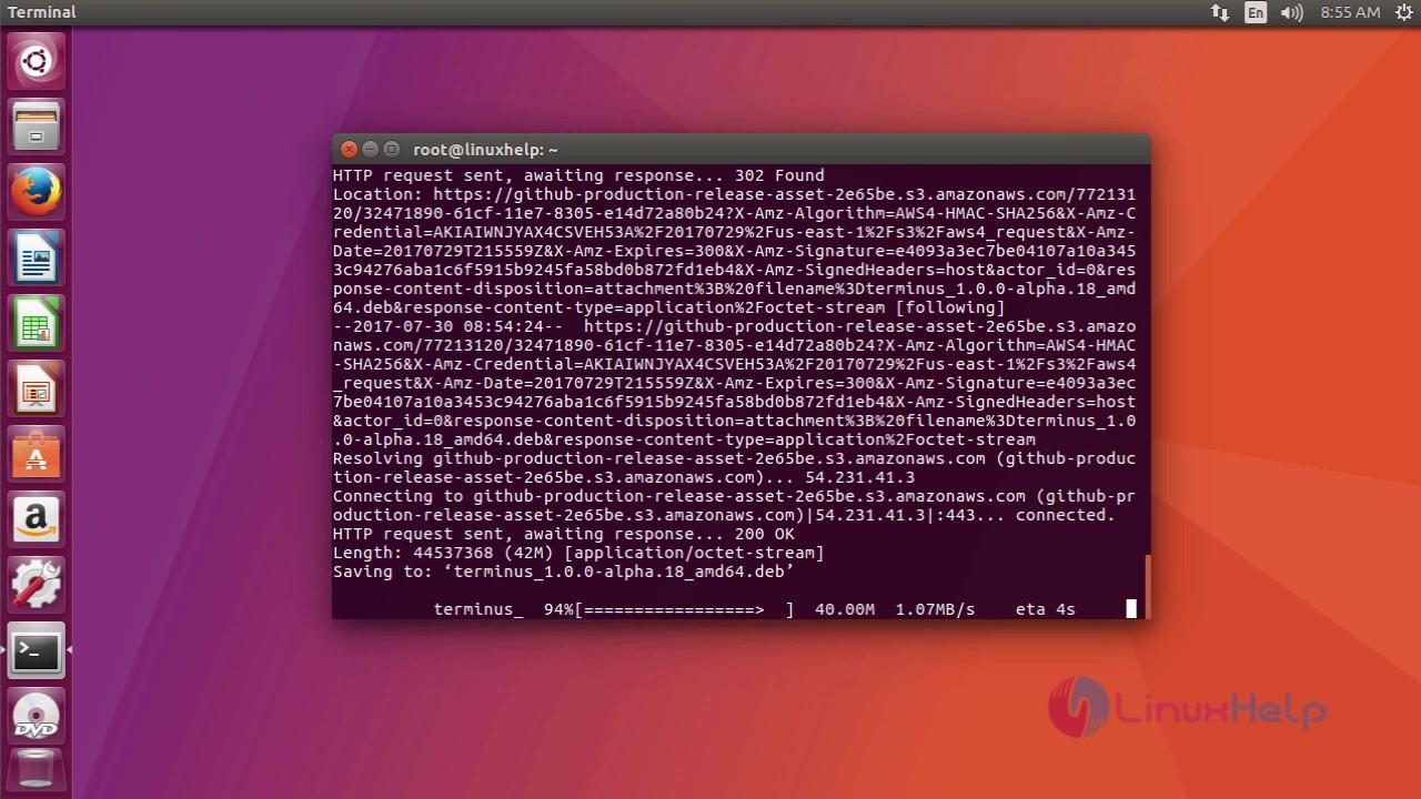 How to install Terminus on Ubuntu 17 04