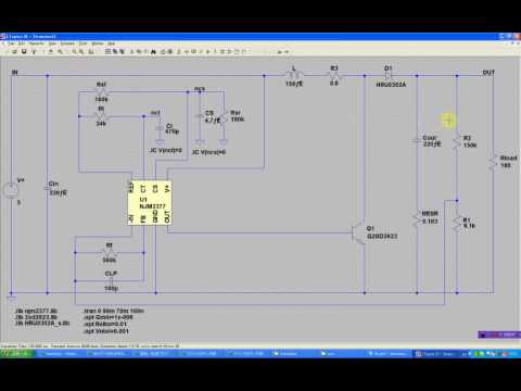 DCDC Converter Simulation using LTspice , Waveform