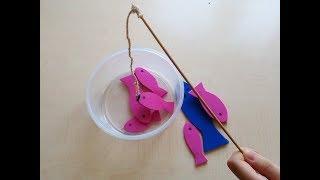 DIY Magnetic Fishing Game For Kids/ Mıknatıslı Balık Tutma Oyunu