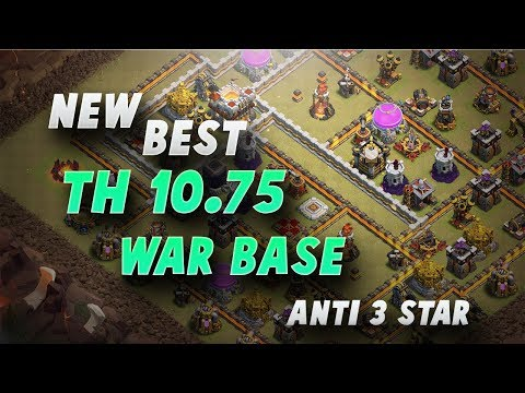 New Best TH10.75 Anti 3 Star War Base #5 | Without EA Only | Clash Of Clans | 2017 |