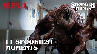 The 11 Spookiest Monster Moments | Stranger Things | Netflix