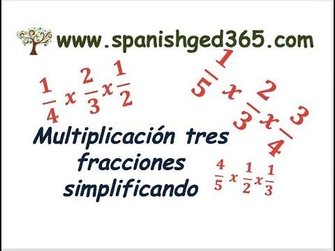 Multiplicación De Tres Fracciones Simplificando
