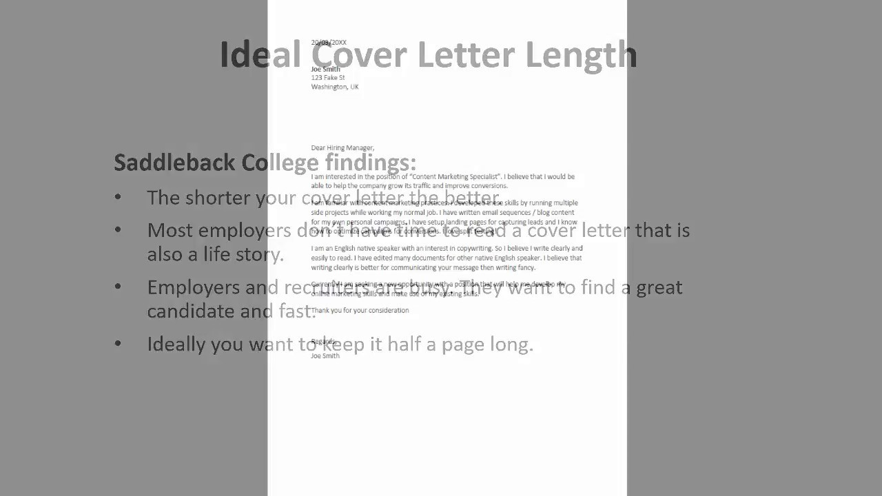 Recruiter Reveals The Perfect Length For Your Cover Letter