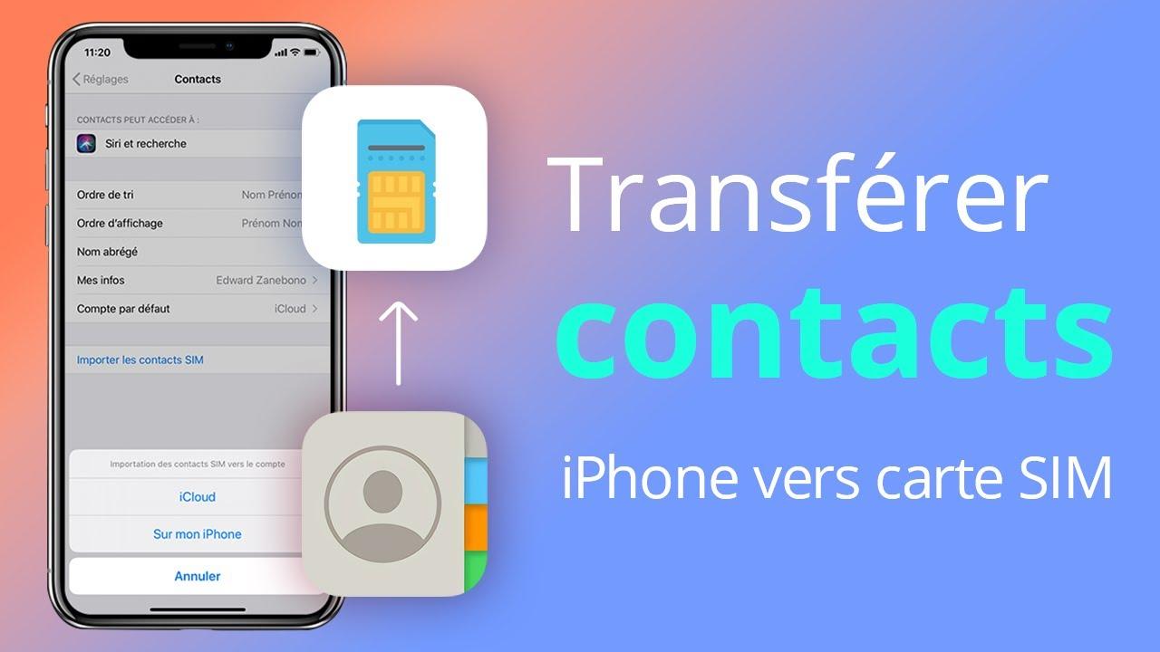 Comment Importer Des Contacts Numeros Iphone Vers La Carte Sim Youtube