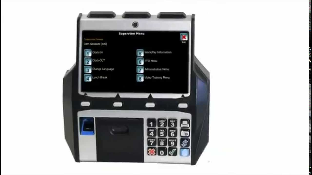 WalTer Biometric Time Clock Data Collection | EPAY Systems