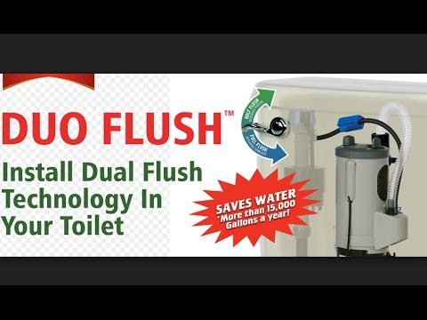 FLUIDMASTER DUOFLUSH COMPLETE FILL AND DUAL FLUSH CONVERSION SYSTEM INSTALLATION.